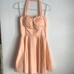 Fit & Flare Halter Top Swing  Dress NWT